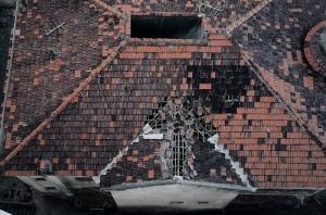 Degradação do Edifício Caiçara - destelhamento