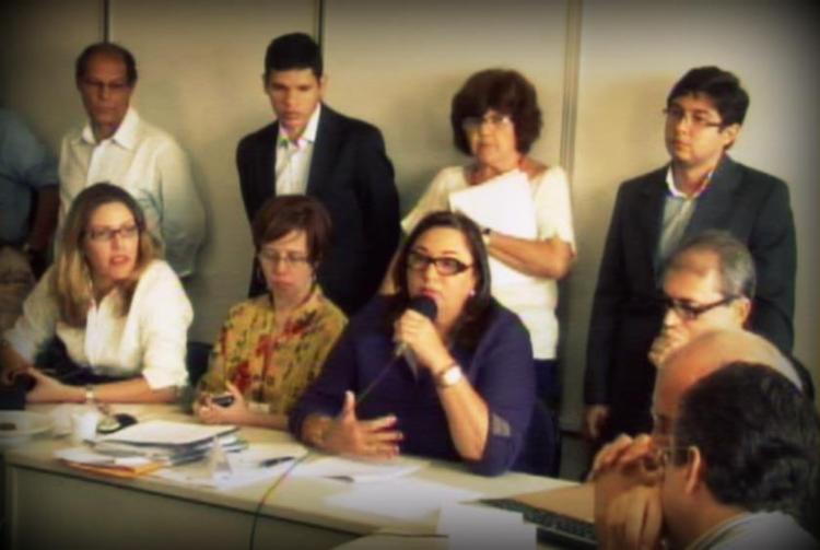 Virginia Pimentel, Emília Avelino e Maria José de Biase na reunião do dia 28.12.12