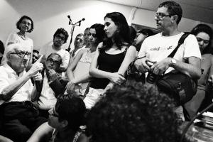 Vereador Liberato fazendo sua intervençaõ na audiência de março de 2012
