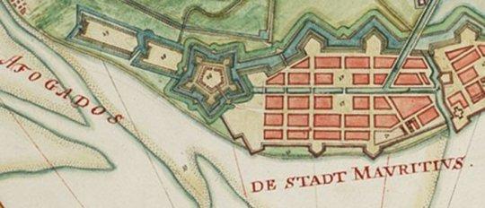 Forte das Cinco Pontas na época dos holandeses