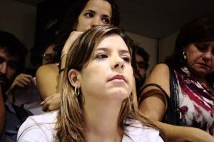 Promotora Belize Câmara na audiência sobre o Projeto Novo Recife na Câmara dos Vereadores, em março de 2012