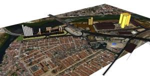 Plano de massas da Operação Urbana Polo Jurídico