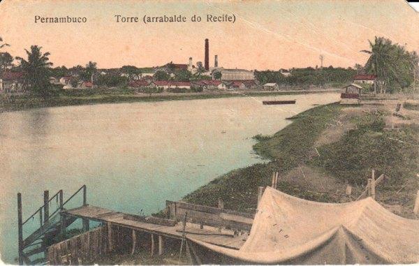 Postal datado de 1910, mostrando o Arrabalde da Torre