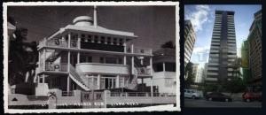 Figuras 5 e 6 - Casa Navio e Edifício Vânia que foi contruído em seu lugar.