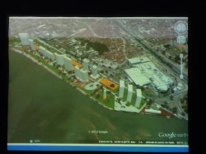 Simulação da ocupação da Vila Naval de acordo com o Plano e com poucos prédios altos